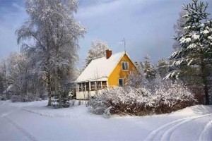 Comfortabele vakantiewoning 'The Yellow House' in Zweden met infraroodpanelen.